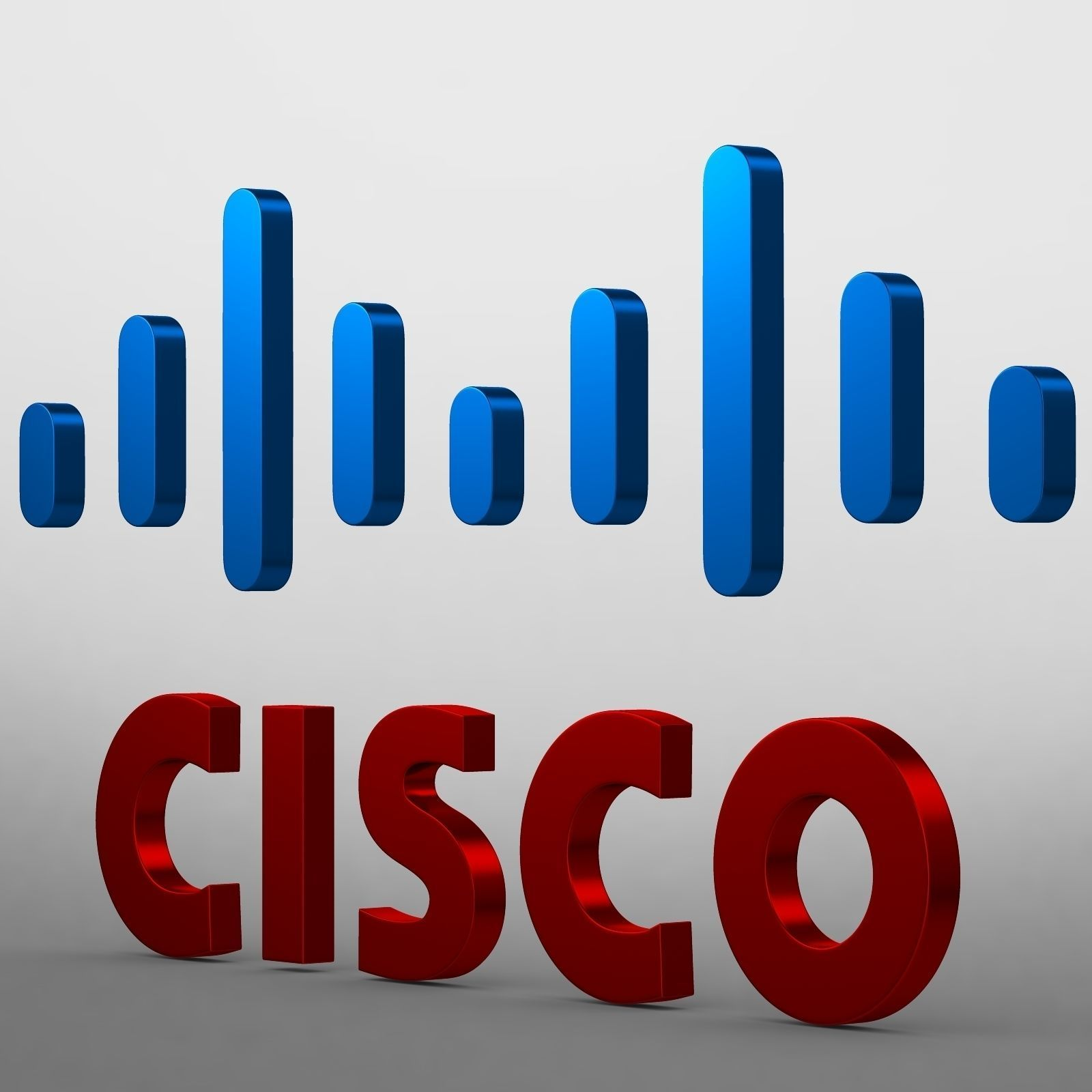 cisco logo 3d model obj 3ds fbx c4d lwo lw lws ma mb 1
